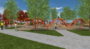 The Eastmark Great Park is expanding soon – look out for the Orange Monster!