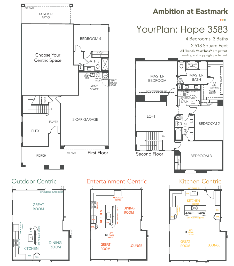 Hope – 3583 Floorplan