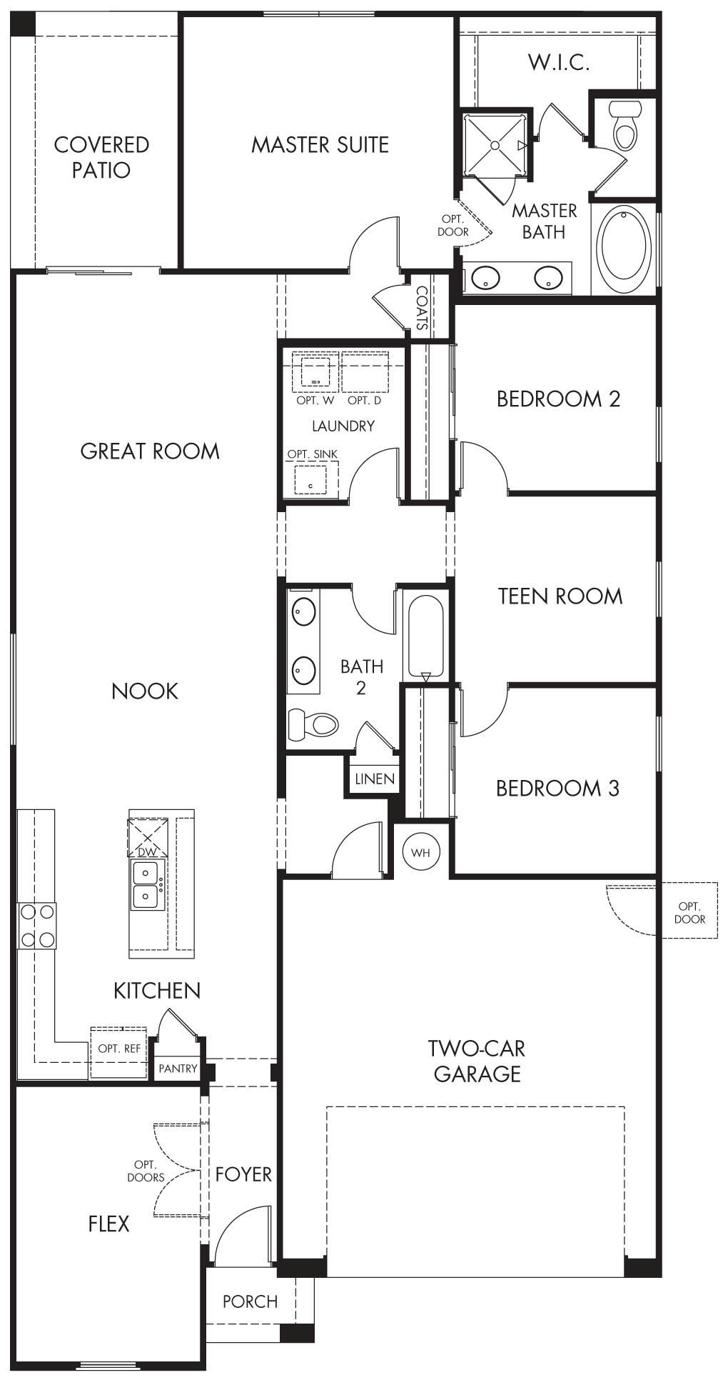 Astaire – 1840 Floorplan