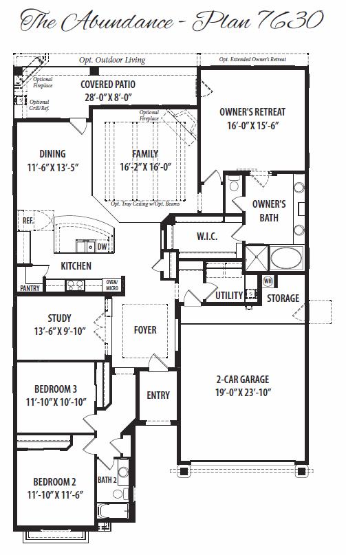 Abundance – 7630 Floorplan