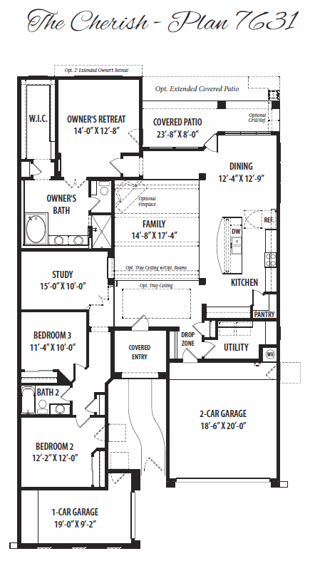 Cherish – 7631 Floorplan