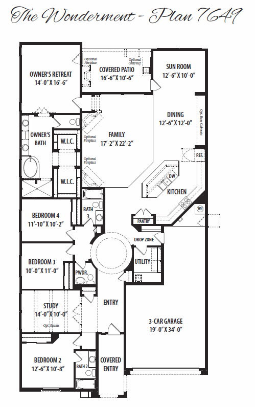 Wonderment – 7649 Floorplan