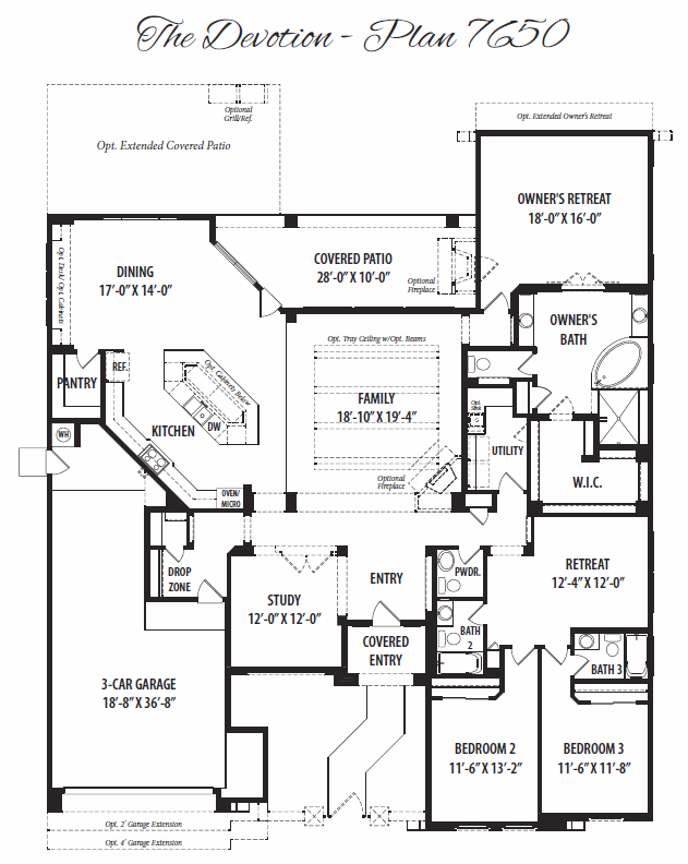 Devotion – 7650 Floorplan