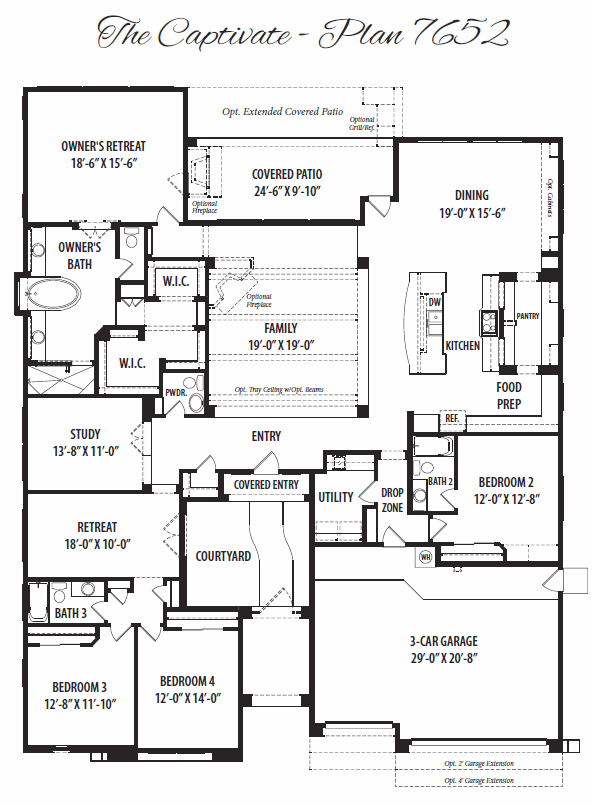Captivate – 7652 Floorplan