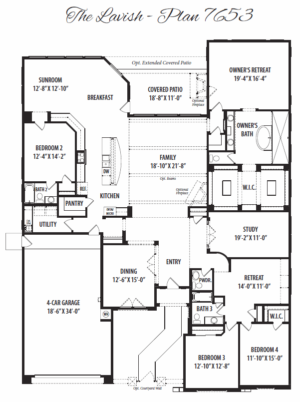 Lavish – 7653 Floorplan