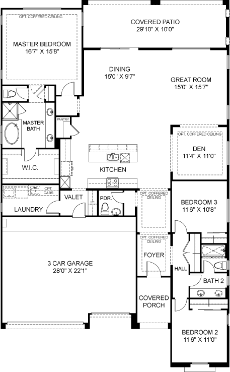 Residence 1 Plan 4811 Floorplan