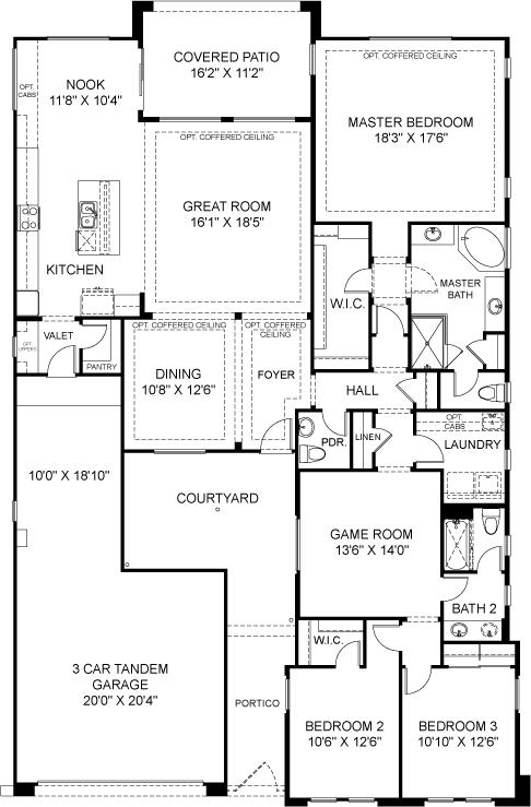 Residence 2 Plan 4821 Floorplan