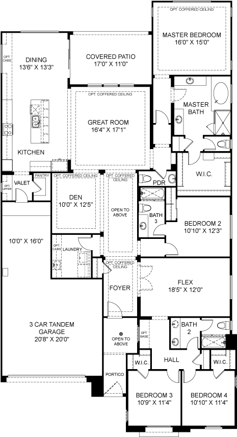 Residence 3 Plan 4831 Floorplan