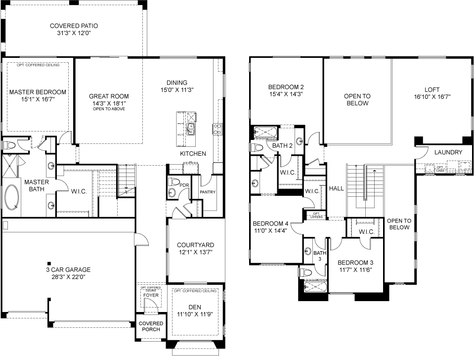 Residence 4 Plan 4842 Floorplan