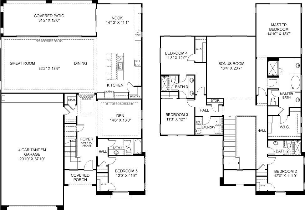 Residence 5 Plan 4852 Floorplan