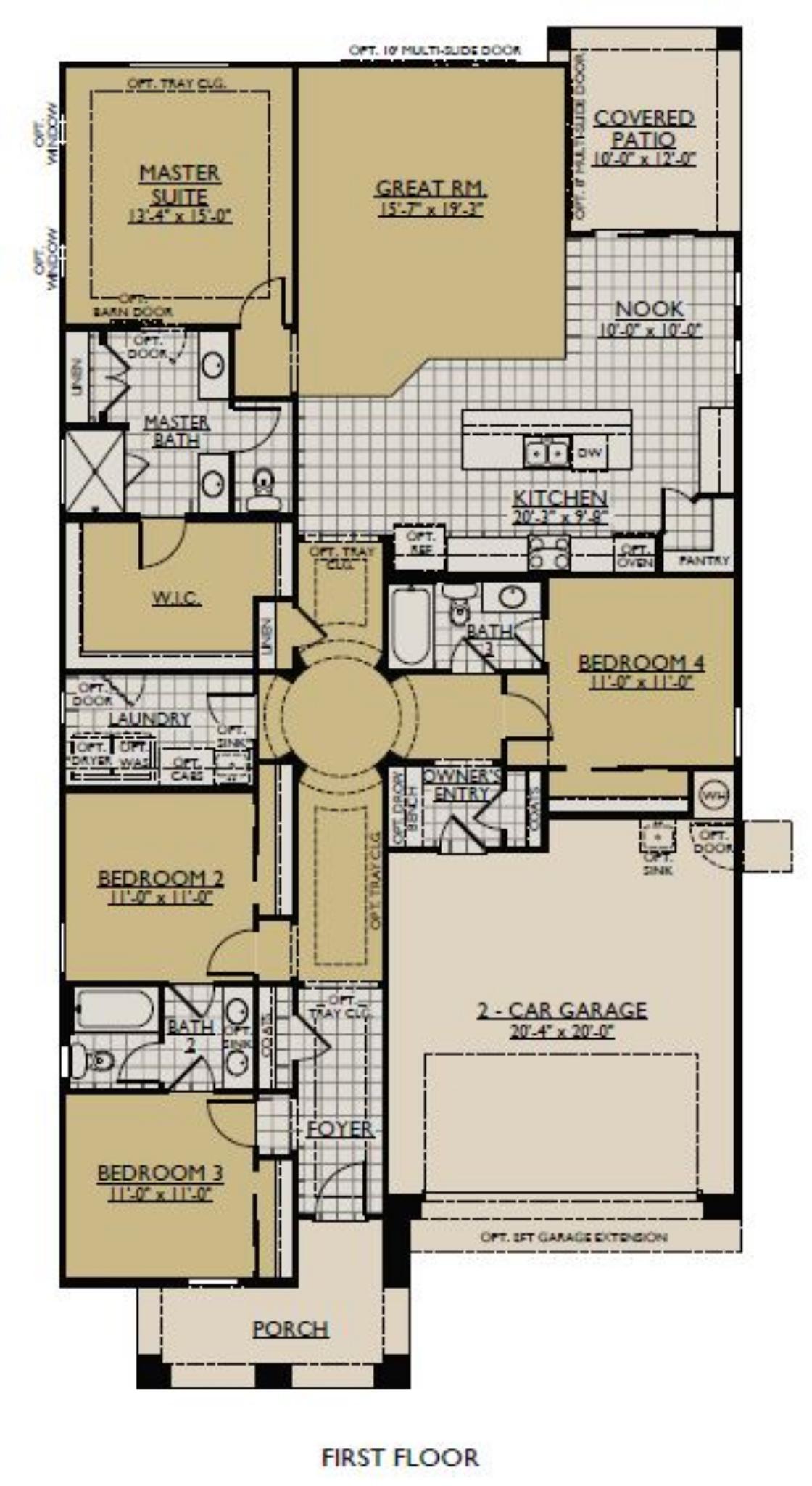 The Sierra Floorplan