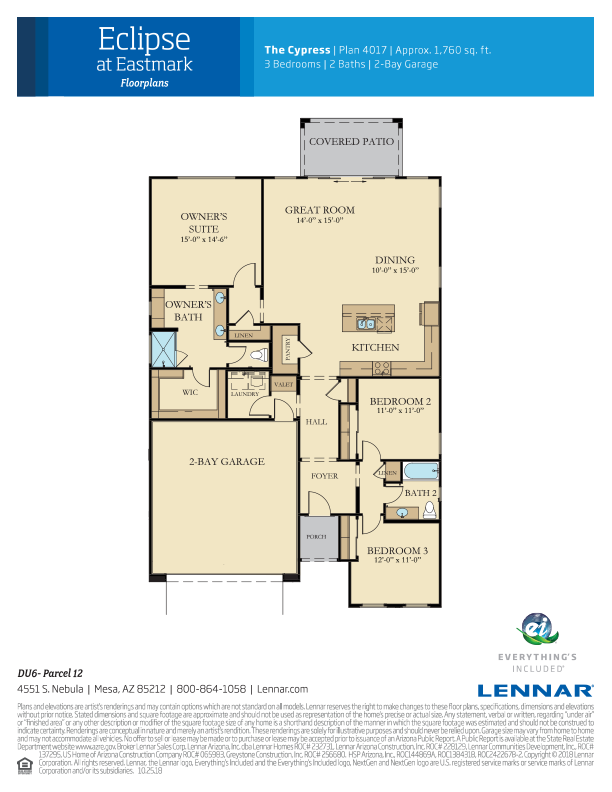 Lennar The Cypress 4017 Fp Png