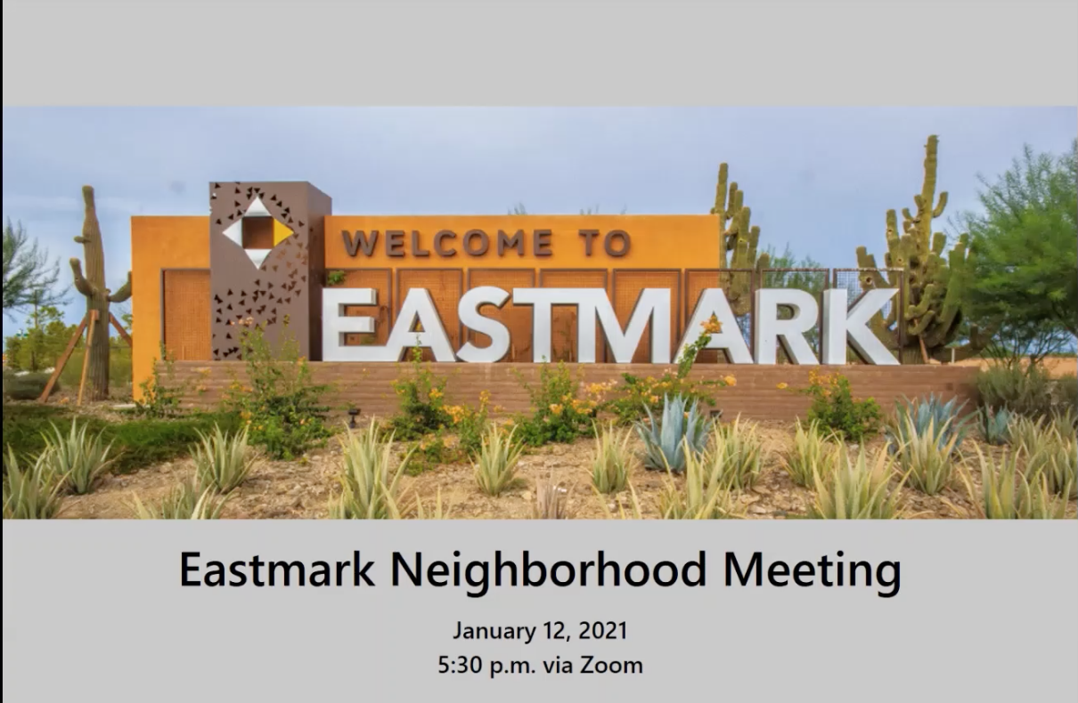 Neighborhood Meeting – Development Update