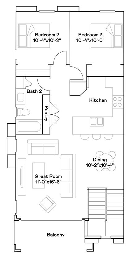 Tanger – Plan 103 Floorplan
