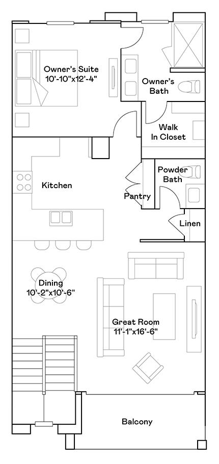 Goldfinch – Plan 104 Floorplan