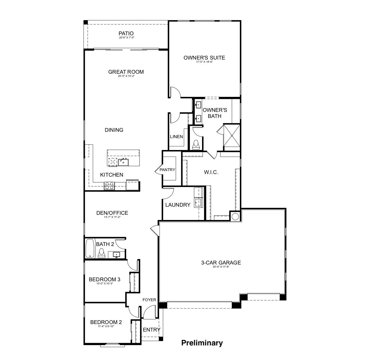 Residence Two Floorplan