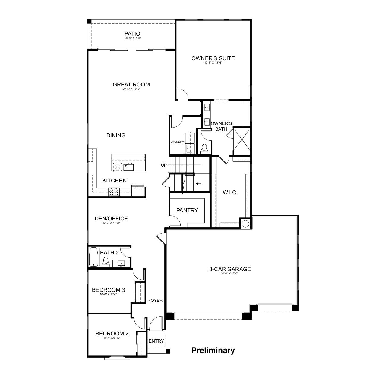 Residence Three Floorplan